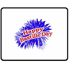 Happy Bastille Day Graphic Logo Double Sided Fleece Blanket (medium)  by dflcprints