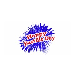 Happy Bastille Day Graphic Logo Satin Wrap by dflcprints