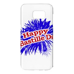Happy Bastille Day Graphic Logo Samsung Galaxy S7 Edge Hardshell Case by dflcprints