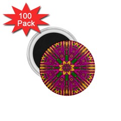 Feather Stars Mandala Pop Art 1 75  Magnets (100 Pack)  by pepitasart