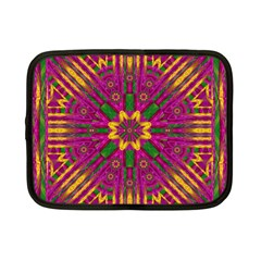 Feather Stars Mandala Pop Art Netbook Case (small)  by pepitasart