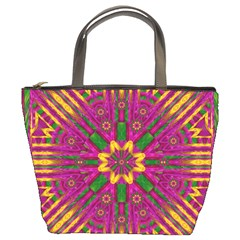 Feather Stars Mandala Pop Art Bucket Bags by pepitasart