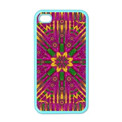 Feather Stars Mandala Pop Art Apple Iphone 4 Case (color) by pepitasart