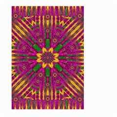 Feather Stars Mandala Pop Art Large Garden Flag (two Sides) by pepitasart
