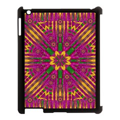 Feather Stars Mandala Pop Art Apple Ipad 3/4 Case (black) by pepitasart