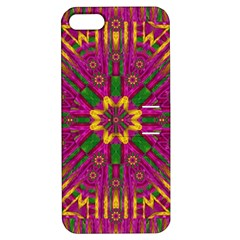 Feather Stars Mandala Pop Art Apple Iphone 5 Hardshell Case With Stand by pepitasart
