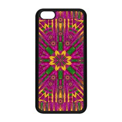 Feather Stars Mandala Pop Art Apple Iphone 5c Seamless Case (black) by pepitasart