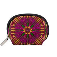 Feather Stars Mandala Pop Art Accessory Pouches (small)  by pepitasart
