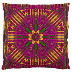 Feather Stars Mandala Pop Art Standard Flano Cushion Case (one Side) by pepitasart