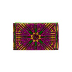Feather Stars Mandala Pop Art Cosmetic Bag (xs) by pepitasart