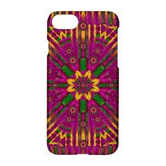 Feather Stars Mandala Pop Art Apple Iphone 7 Hardshell Case by pepitasart