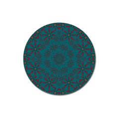 Stars Of Golden Metal Magnet 3  (round) by pepitasart