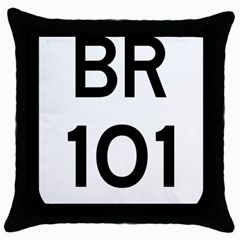 Brazil Br 101 Transcoastal Highway  Throw Pillow Case (black) by abbeyz71