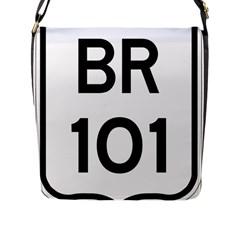 Brazil Br 101 Transcoastal Highway  Flap Messenger Bag (l)  by abbeyz71