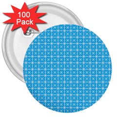 Simple Rectangular Pattern 3  Buttons (100 Pack)