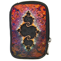 The Eye Of Julia, A Rainbow Fractal Paint Swirl Compact Camera Cases by jayaprime