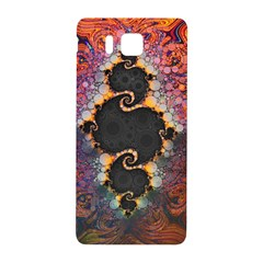The Eye Of Julia, A Rainbow Fractal Paint Swirl Samsung Galaxy Alpha Hardshell Back Case by jayaprime