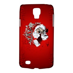 Funny Santa Claus  On Red Background Galaxy S4 Active by FantasyWorld7