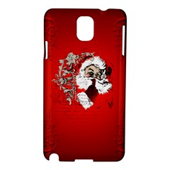 Funny Santa Claus  On Red Background Samsung Galaxy Note 3 N9005 Hardshell Case by FantasyWorld7