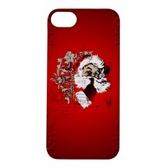 Funny Santa Claus  On Red Background Apple Iphone 5s/ Se Hardshell Case by FantasyWorld7