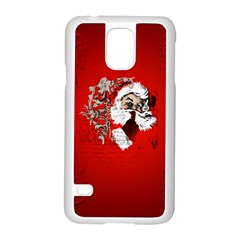 Funny Santa Claus  On Red Background Samsung Galaxy S5 Case (white) by FantasyWorld7