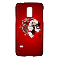 Funny Santa Claus  On Red Background Galaxy S5 Mini by FantasyWorld7