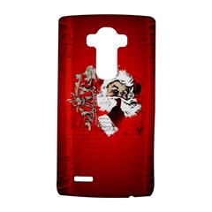 Funny Santa Claus  On Red Background Lg G4 Hardshell Case by FantasyWorld7