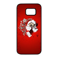 Funny Santa Claus  On Red Background Samsung Galaxy S7 Edge Black Seamless Case by FantasyWorld7
