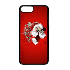 Funny Santa Claus  On Red Background Apple Iphone 7 Plus Seamless Case (black) by FantasyWorld7
