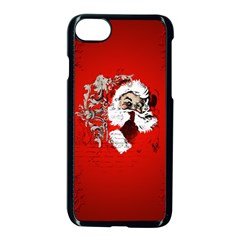 Funny Santa Claus  On Red Background Apple Iphone 7 Seamless Case (black) by FantasyWorld7