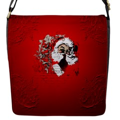 Funny Santa Claus  On Red Background Flap Messenger Bag (s) by FantasyWorld7
