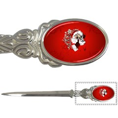 Funny Santa Claus  On Red Background Letter Openers by FantasyWorld7