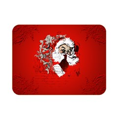 Funny Santa Claus  On Red Background Double Sided Flano Blanket (mini)  by FantasyWorld7