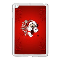 Funny Santa Claus  On Red Background Apple Ipad Mini Case (white) by FantasyWorld7