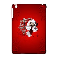 Funny Santa Claus  On Red Background Apple Ipad Mini Hardshell Case (compatible With Smart Cover) by FantasyWorld7