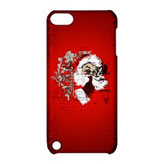 Funny Santa Claus  On Red Background Apple Ipod Touch 5 Hardshell Case With Stand by FantasyWorld7