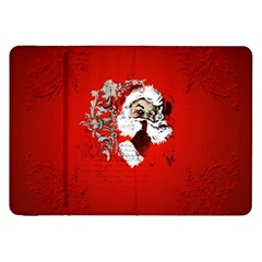 Funny Santa Claus  On Red Background Samsung Galaxy Tab 8 9  P7300 Flip Case by FantasyWorld7