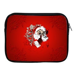 Funny Santa Claus  On Red Background Apple Ipad 2/3/4 Zipper Cases by FantasyWorld7