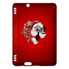 Funny Santa Claus  On Red Background Kindle Fire Hdx Hardshell Case by FantasyWorld7