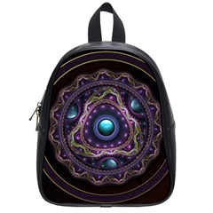 Beautiful Turquoise And Amethyst Fractal Jewelry School Bags (small)  by jayaprime