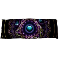 Beautiful Turquoise And Amethyst Fractal Jewelry Body Pillow Case (dakimakura) by beautifulfractals