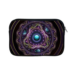 Beautiful Turquoise And Amethyst Fractal Jewelry Apple Ipad Mini Zipper Cases by jayaprime