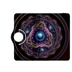 Beautiful Turquoise And Amethyst Fractal Jewelry Kindle Fire Hdx 8 9  Flip 360 Case by beautifulfractals