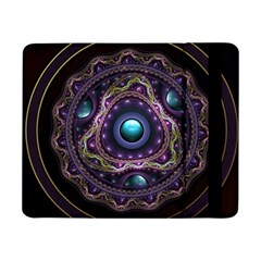 Beautiful Turquoise And Amethyst Fractal Jewelry Samsung Galaxy Tab Pro 8 4  Flip Case by jayaprime