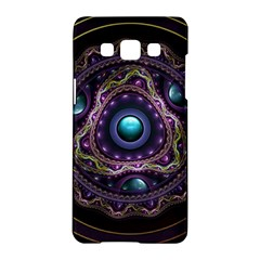 Beautiful Turquoise And Amethyst Fractal Jewelry Samsung Galaxy A5 Hardshell Case  by jayaprime
