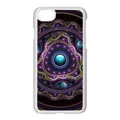 Beautiful Turquoise And Amethyst Fractal Jewelry Apple Iphone 7 Seamless Case (white) by beautifulfractals