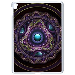 Beautiful Turquoise And Amethyst Fractal Jewelry Apple Ipad Pro 9 7   White Seamless Case by beautifulfractals