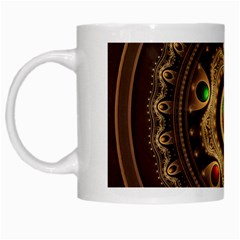 Gathering The Five Fractal Colors Of Magic White Mugs by beautifulfractals