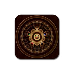 Gathering The Five Fractal Colors Of Magic Rubber Square Coaster (4 Pack)  by beautifulfractals