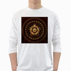 Gathering The Five Fractal Colors Of Magic White Long Sleeve T Shirts by jayaprime